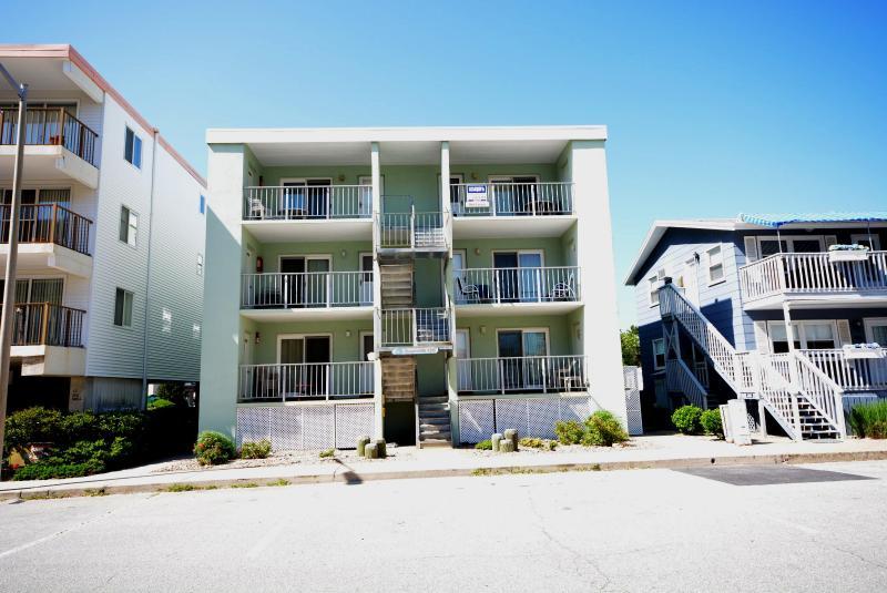 Exterior of Oceanside 136 #6, located Ocean Block on 136th St. in N. Ocean City - Oceanside 136 #6 - Cute N. OC Ocean Block Condo! - Ocean City - rentals