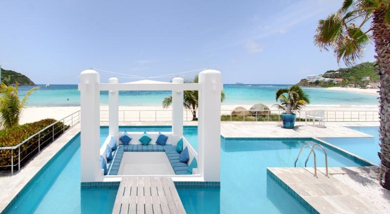 True Beachfront, Huge Terrace & Private Pool, Ideal for Couples & Families, Walk to Restuarants - Image 1 - Dawn Beach - rentals