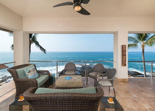Ocean Front Lanai - Stunning Ocean Front Home - Hale Moana Kona - Kailua-Kona - rentals
