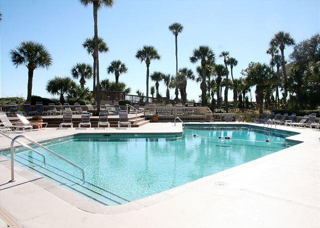 Pool is heated in Oct, Nov, Mar & Apr - Oceanfront 3 Bedroom End Unit Villa with Spacious Oceanfront Balcony! - Hilton Head - rentals
