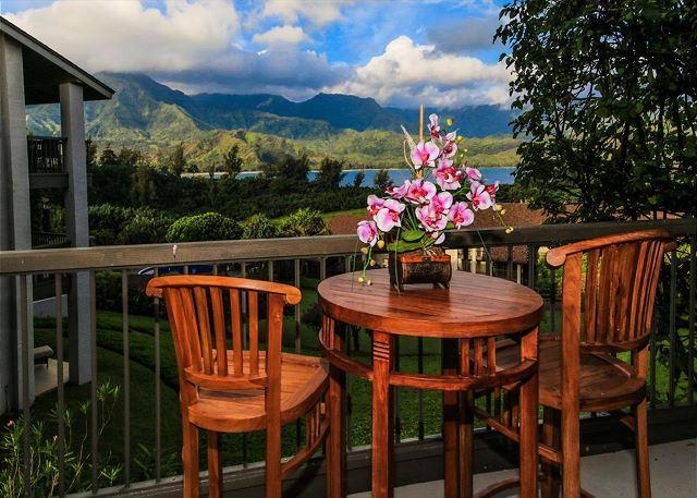 Bali Hai ocean view in premium resort, walk or ride to beach! A/C - Image 1 - Princeville - rentals