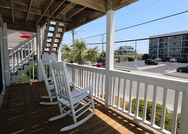 Pugh -  Affordable ocean view duplex on the south end of Wrightsville Beach - Image 1 - Wrightsville Beach - rentals