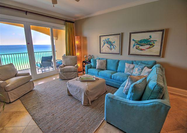 Living Room - Adagio B402  *** Breathtaking Views * Open August 27 *** - Santa Rosa Beach - rentals