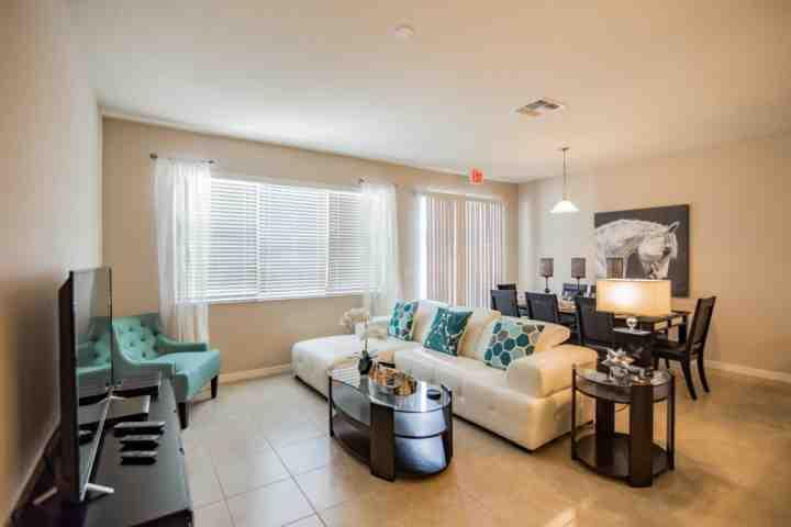 Beautiful Living Area w/Flat Screen TV & Patio Access - 5133 Compass Bay - Kissimmee - rentals