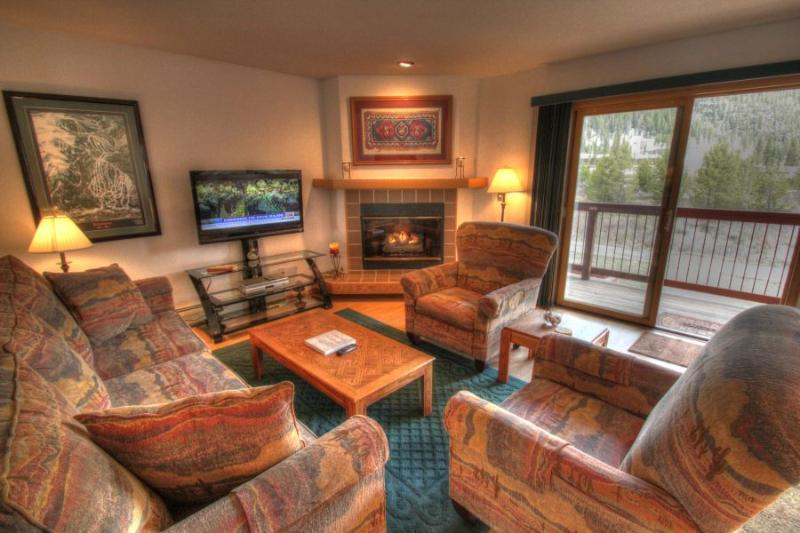 Living Room - - C113 Cinnamon Ridge - Mountain House - Keystone - rentals