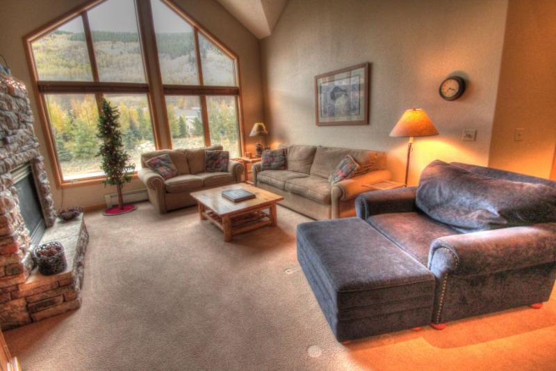 Living Room - The vaulted ceilings give a very open feel to this condo. - Gateway 5038 - River Run - Keystone - rentals