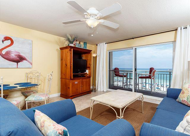 Get a great view of the beach right from your living room! Relax - PI 406:TAKE A LOOK!THE PERFECT BEACH RETREAT!UPSCALE 1BR/2BA BEACH FRONT unit - Fort Walton Beach - rentals