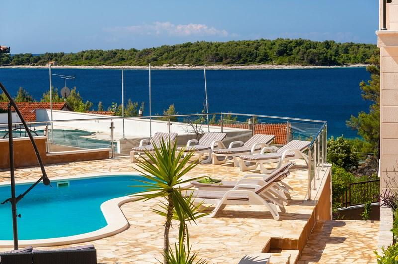 Pool apartment for rent in Vela Luka - Image 1 - Vela Luka - rentals