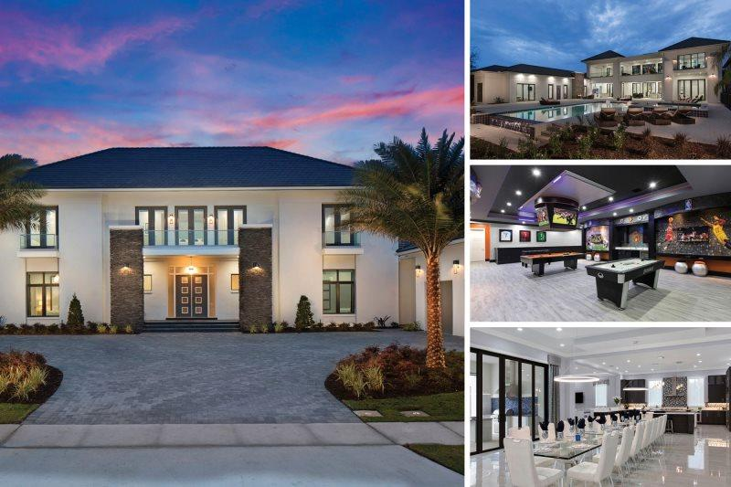 The White House at Reunion | 12,982 sq. ft Villa with the Largest South Facing Infinity Pool in Reunion, Private Theater, Fitness Room, Games & Sports Bar - Image 1 - Kissimmee - rentals