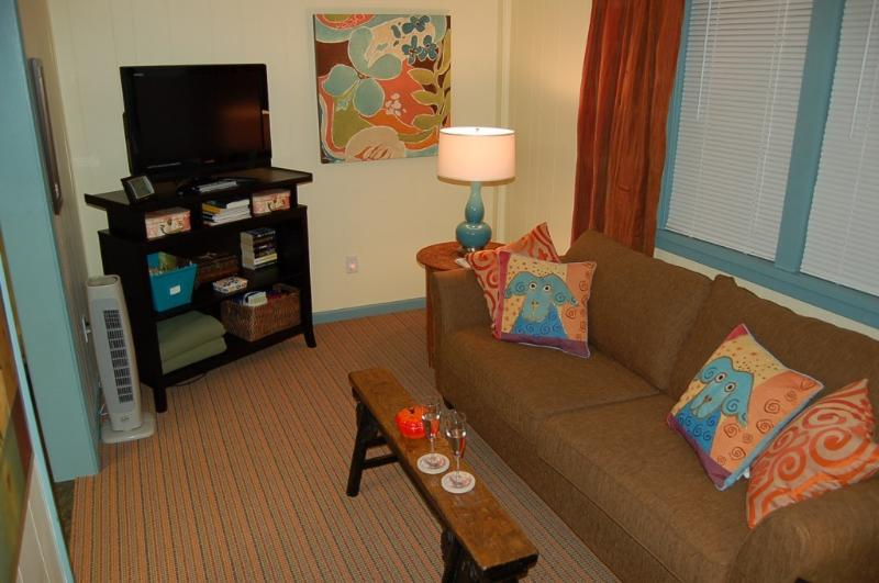 Living room, cable TV, WIFI - Cozy Eagles Nest - - Muskegon - rentals