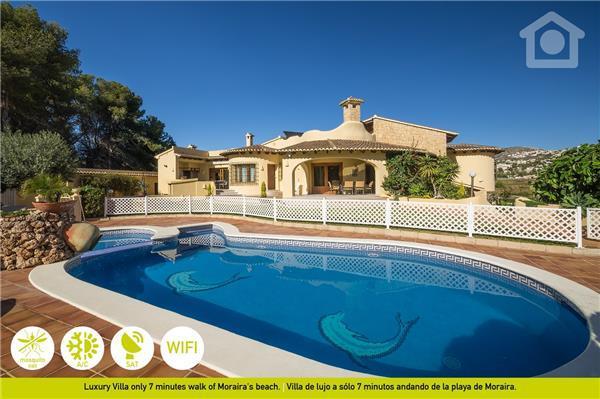 5 bedroom Villa in Moraira, Costa Blanca, Spain : ref 2262566 - Image 1 - La Llobella - rentals
