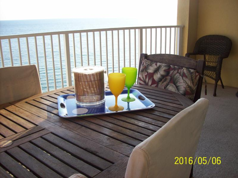 "Large deck from the living room to the master bedroom - June 10 to June 17 AVAILABLE $1495.  ""Penthouse"" Ocean front (2 bedroom 2 bath) - Panama City Beach - rentals"