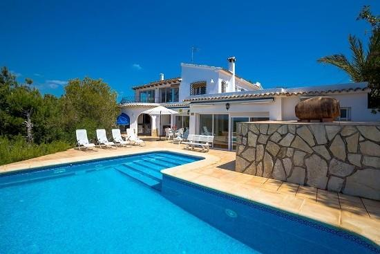 6 bedroom Villa in Moraira, Costa Blanca, Moraira, Spain : ref 2301980 - Image 1 - La Llobella - rentals