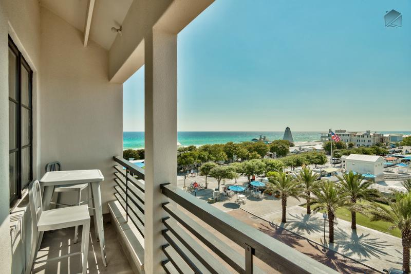 Your balcony will be the first place you'll gravitate to upon your arrival. - Romantic condo right in Seaside, overlooking amphitheater with ocean views - Love Monkey - Santa Rosa Beach - rentals