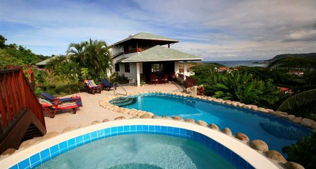 This villa enjoys spectacular sea views. - Image 1 - Cap Estate - rentals