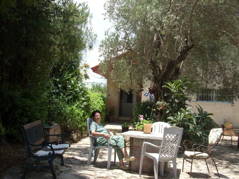 Studio - Garden - Ilana's Jerusalem Apartments - 3 bdrm apt - studio - Jerusalem - rentals