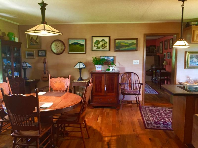 View of open dining room, kitchen area looking into living room - Pet Friendly Rental Close to Tryon Equestrian - Rutherfordton - rentals