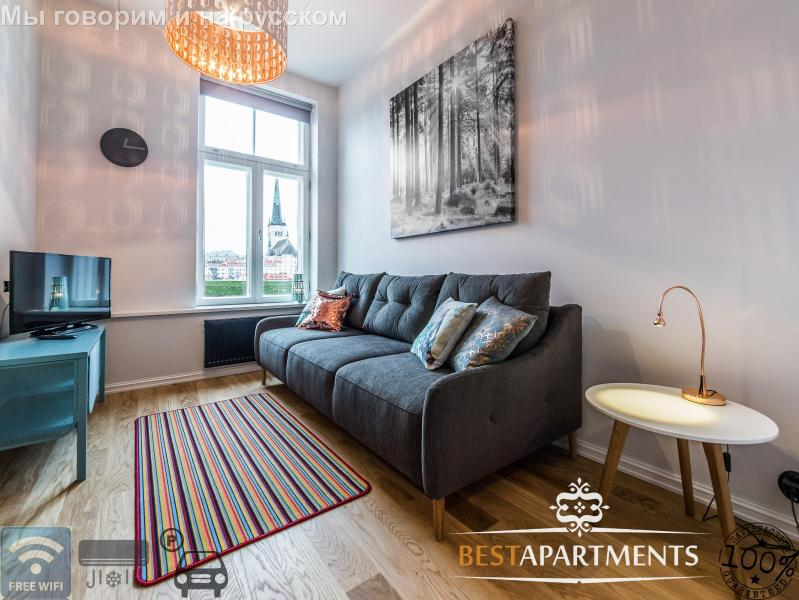 Great studio apartment with aircon in Rotermanni quarter - Image 1 - Tallinn - rentals
