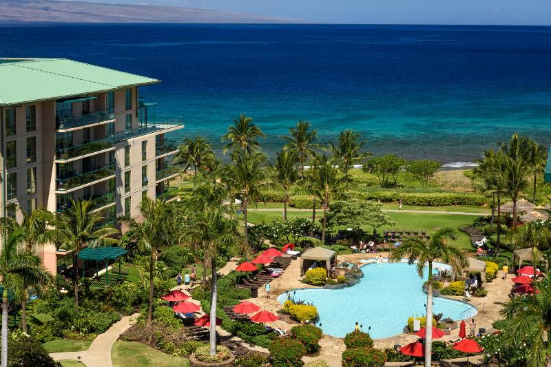 Gorgeous view of the Island of Lanai, ocean, and pool area - Panoramic Ocean View 9th floor Studio - Ka'anapali - rentals