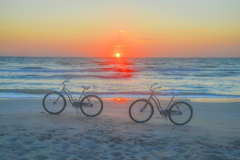 A beautiful sunrise on this beachfront home. Bikes included! - Pristine, Direct Oceanfront, Pets, Sleeps 10 - Vero Beach - rentals
