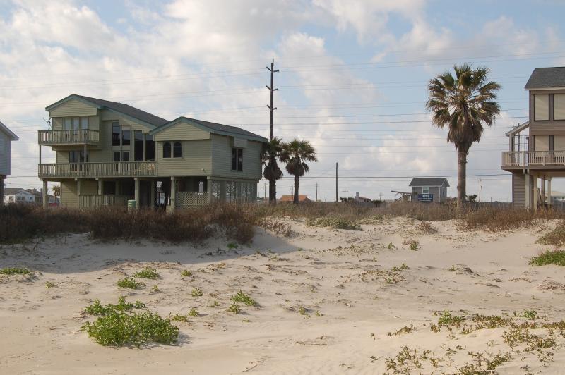 View from beach - Island Cabana-BeachSide Sleeps 10-14 3BR/2.5 Bath - Galveston - rentals