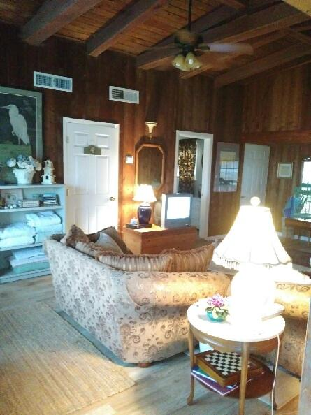 living room - Captain Rogers Place...walk to the beach - Galveston - rentals