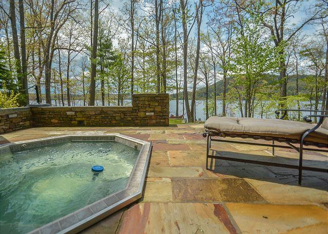 Hot Tub - Extravagant 5 Bedroom Lakefront home offers a stunning lakefront! - Swanton - rentals