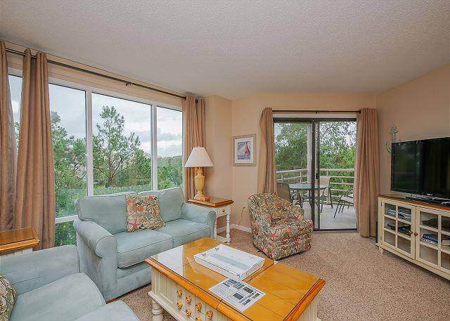Living Area - Beautiful views from this lovely 2 bedroom ocean view villa! - Hilton Head - rentals