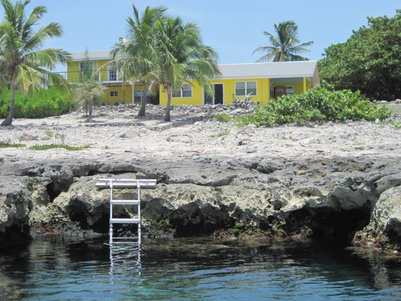 Barcadere with reef cove and access ladder. - Ocean Front, Spectacular Views - West End - rentals