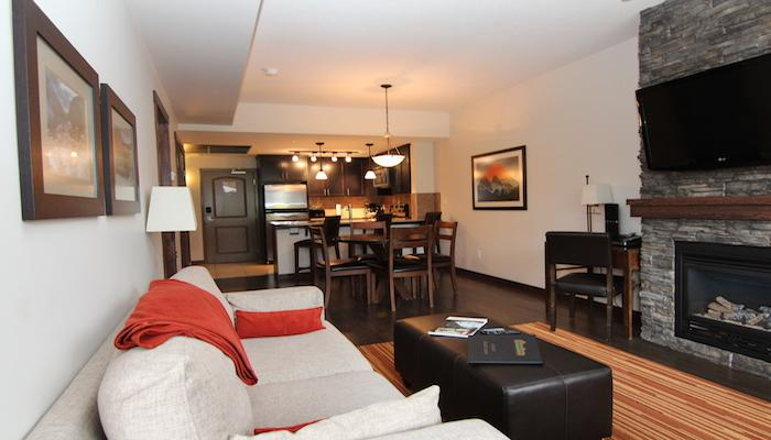 Unwind in this beautiful living area after a day playing in the Rockies. - Canmore Stoneridge Mountain Resort 2 Bedroom (King and Queen) Condo - Canmore - rentals