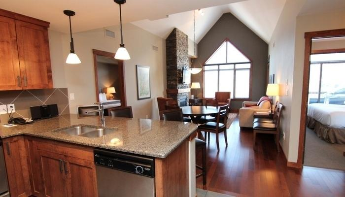 Vaulted ceilings and huge windows make this chic condo bright and airy. - Canmore Stoneridge Mountain Resort 3 Bedroom Penthouse Condo - Canmore - rentals
