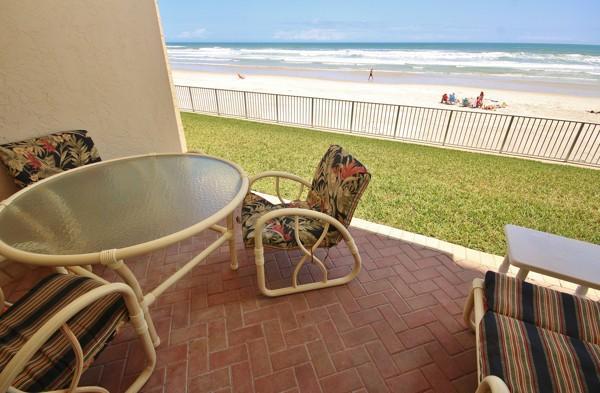 Patio - Family Friendly First Floor Sea Coast Gardens III - New Smyrna Beach - rentals