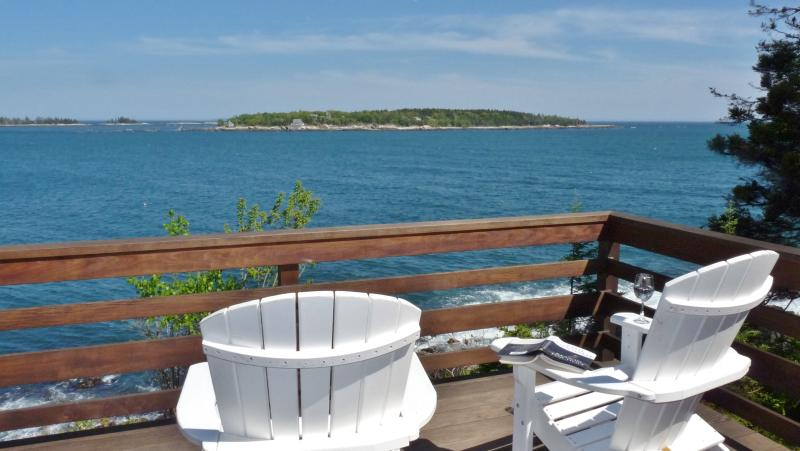 Stunning Unobtructed Panoramic Views from the Deck! - Heron's Nest: Gorgeous Oceanfront Last Minute Deal - Boothbay - rentals