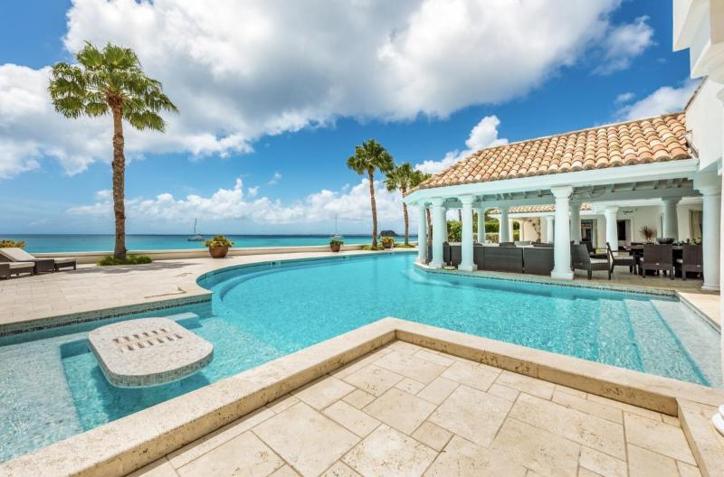 Luxury 6 bedroom St. Martin villa. Contemporary Beachfront with gorgeous sunsets! - Image 1 - Grand Case - rentals