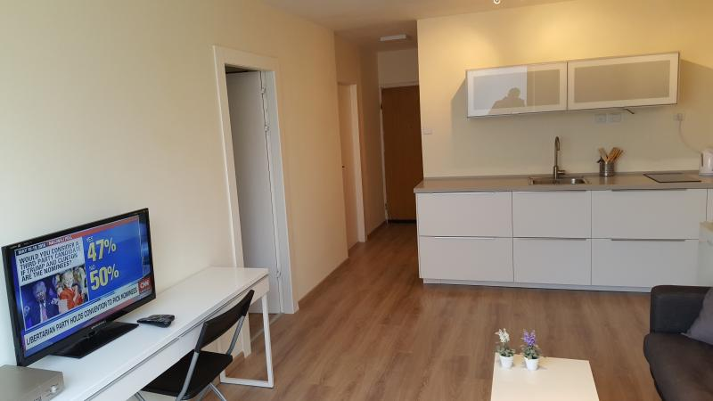 The Living room & Kitchen - NEW SEABREEZE 3 - 2BR +LIVING ROOM - Tel Aviv - rentals