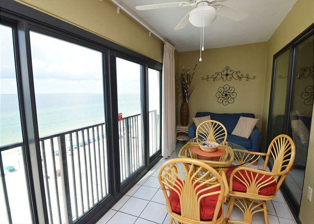 Glass Enclosed Balcony - Gulf Tower 7D ~  Condo with Spacious Living Room ~ Bender Vacation Rentals - Gulf Shores - rentals