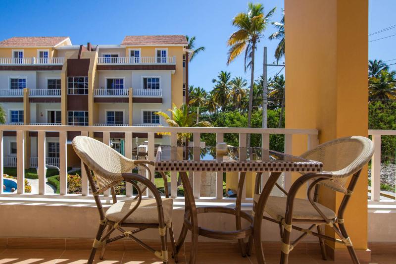 Beautiful view from the patio - Punta Cana Condo - Private End Unit  Estrella del Mar E3 - Sleeps 6 - Bavaro - rentals