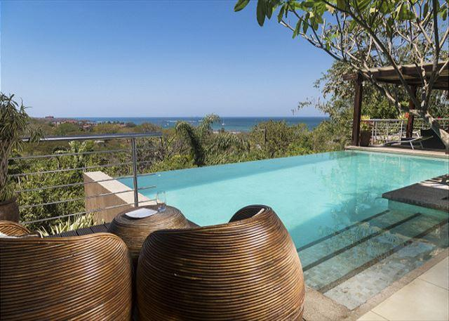 Pool- - Casa Alegria- 5 bedroom Tropical home w/ ocean views and walk to beach - Tamarindo - rentals