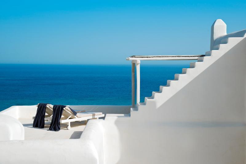Sublime character villa overlooking the Aegean Se - Image 1 - Elia Beach - rentals