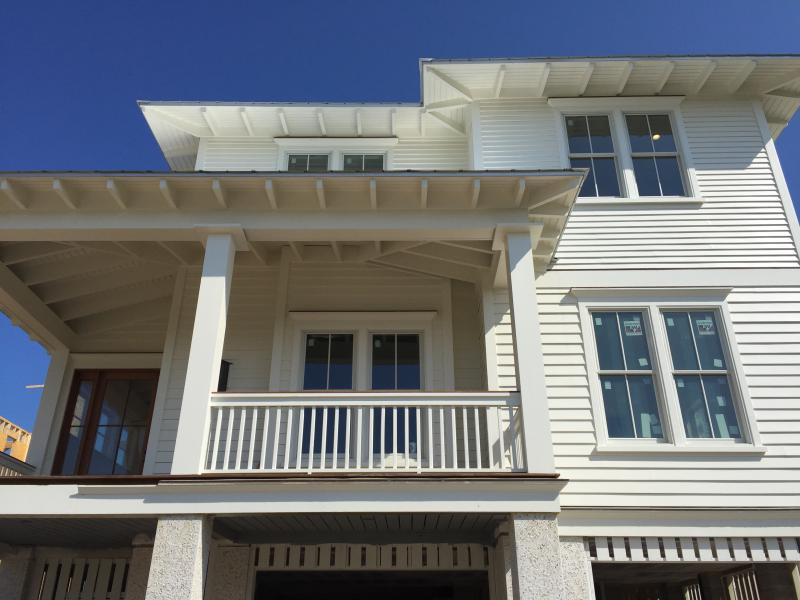 Front Exterior - New, Ocean Front 6 BD, 6.5 BA Home, w/Pool & Spa!! - Isle of Palms - rentals