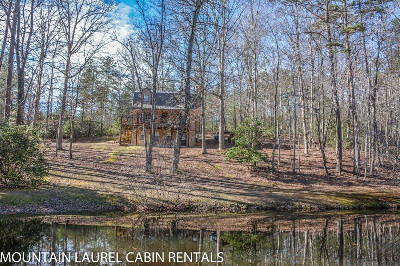 KINGDOM CABIN #1- 4BR/3BA- TOTALLY SECLUDED CABIN SLEEPS 8, PING PONG, POND, CHARCOAL GRILL, SAT TV, WIFI, WOOD BURNING FIREPLACE, PORCH SWING, STARTING AT $99/NIGHT! - Image 1 - Blue Ridge - rentals