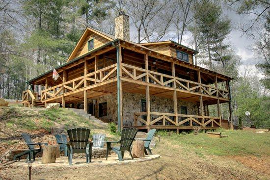 ASKA ESCAPE- 3BR/3BA- AWESOME TRUE LOG CABIN WITH UPSCALE FURNISHINGS, 52 INCH TV, GAS AND WOOD BURNING FIREPLACES, WIFI, SATELLITE TV, SECLUDED HOT TUB, GAS GRILL, HAMMOCK! STARTING AT $159 A NIGHT! - Image 1 - Blue Ridge - rentals