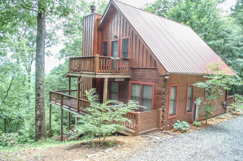 INTO THIN AYER- 2BR/2BA- CABIN WITH AN AWESOME MOUNTAIN VIEW SLEEPS 4, PET FRIENDLY, STACKED STONE FIREPLACE, WIFI, AND GAS GRILL! STARTING AT $123/NIGHT! - Image 1 - Blue Ridge - rentals
