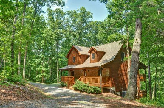 APPALACHIAN PROMISE- 3BR/3.5BA- SECLUDED CABIN SLEEPS 8, MOVIE ROOM, WIFI, POOL TABLE, SATELLITE TV, GAS LOG FIREPLACE, HOT TUB ON COVERED PORCH, GAS GRILL, AND A FIRE PIT! STARTING AT $150 A NIGHT! - Image 1 - Blue Ridge - rentals