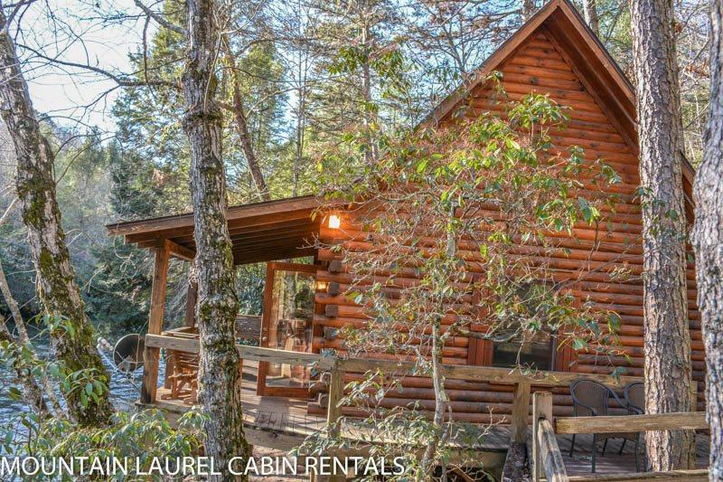A TUMBLIN` RUN- 2BR/1 BA- CABIN LOCATED ON THE BEAUTIFUL FIGHTINGTOWN CREEK, SLEEPS 4, SATELLITE TV, WOOD BURNING STOVE, COVERED DECK WITH GAS GRILL, FIRE PIT, PET FRIENDLY-DOGS STAY FREE! STARTING AT $129 A NIGHT! - Image 1 - Blue Ridge - rentals