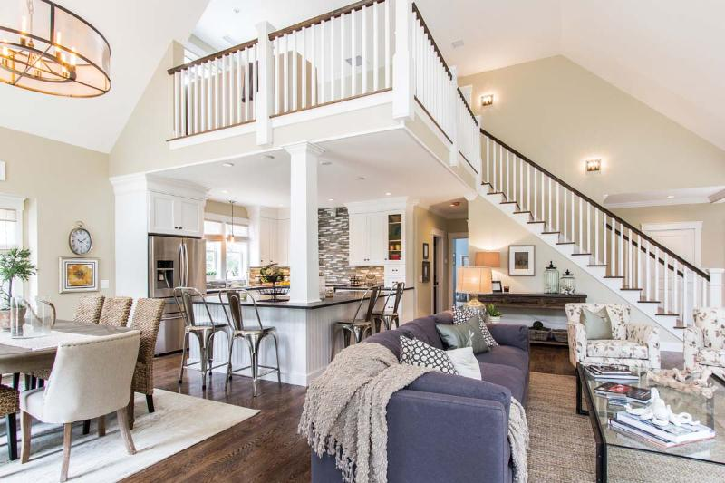 """Main Living Area, TV Loft above with 40"""" TV - BRIGY - Outstanding Designer Luxury Home,  New 18 x 30 Pool for Summer 2017 - Oak Bluffs - rentals"""