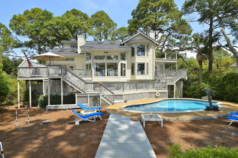 10 Sea Oak - Direct Oceanfront, Updated Home, Large Pool, Spacious Yard, Private Sundeck/Hot - Hilton Head - rentals