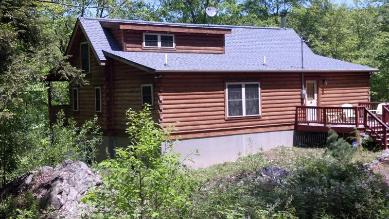 Cabin in the Spring - Pocono Log Cabin 5 Bd 3 BA on Lehigh River - Lake Harmony - rentals