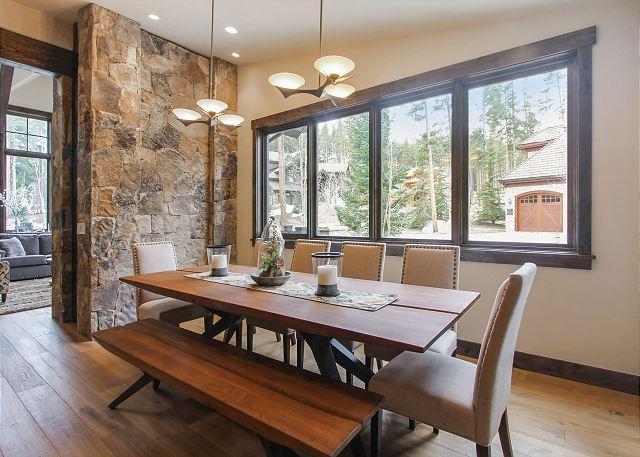 Dining Room - Boulder Vista - New Peak 8 Luxury Home with Impressive Amenities Including Sauna and Hot Tub! - Breckenridge - rentals