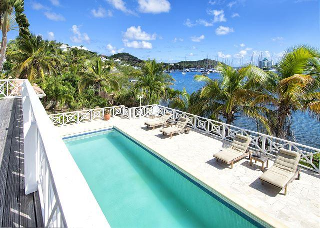 40-foot swimming pool  - Marinafront private villa with 40-foot pool and sundeck | Island Properties - Saint Martin-Sint Maarten - rentals